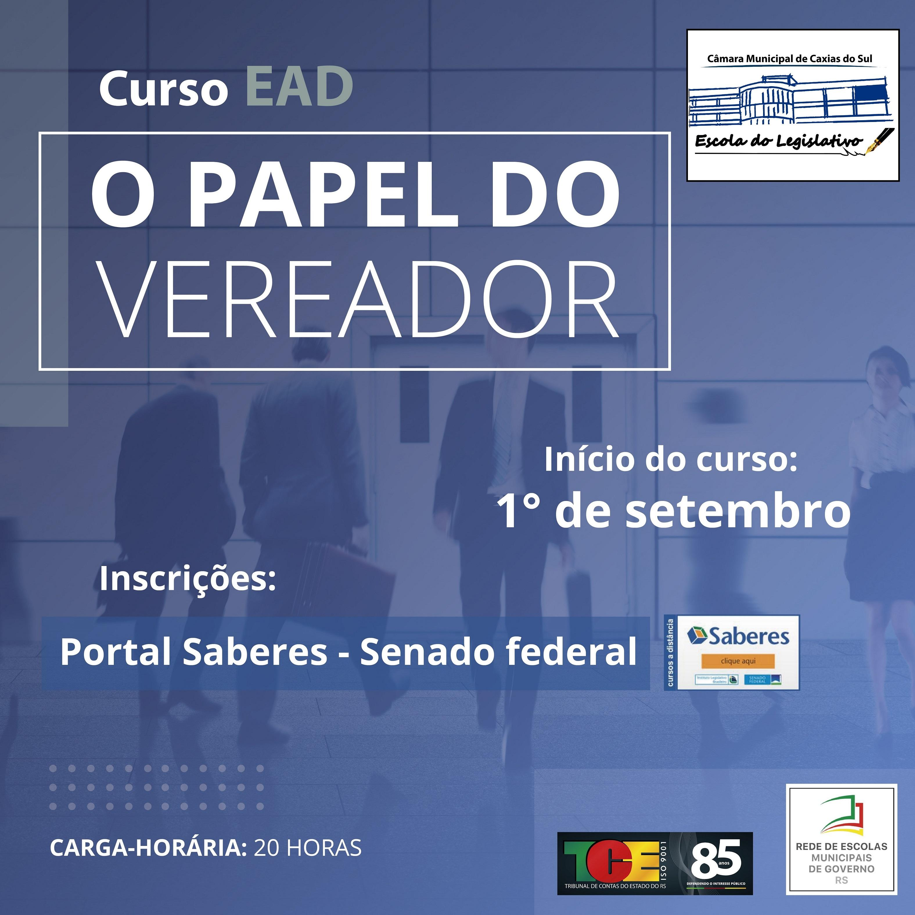 "Escola do Legislativo divulga o curso ""O Papel do Vereador"" do Senado Federal"